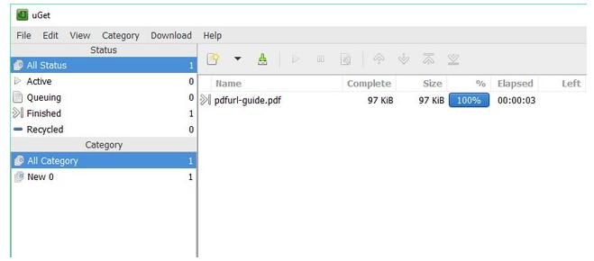 uGet download manager