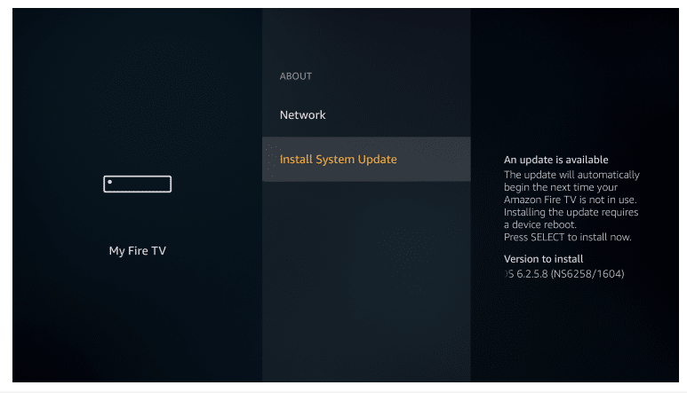 click on install system updates