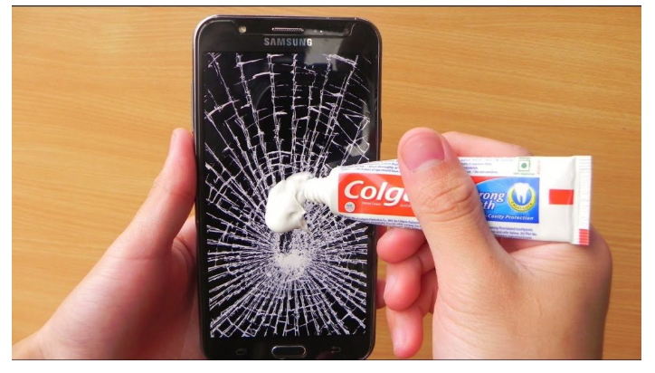 How To Fix Phone Cracked Screen with Toothpaste