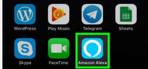 Open the Amazon Alexa app