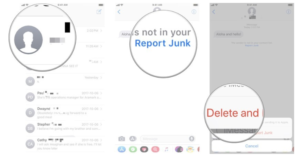 How to Report messages in iphone