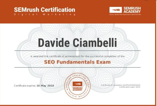 Content Marketing Toolkit course by SEMrush