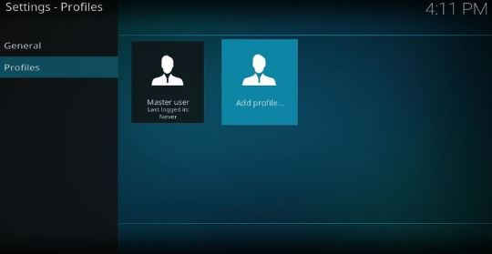 Create Multiple Kodi User Accounts