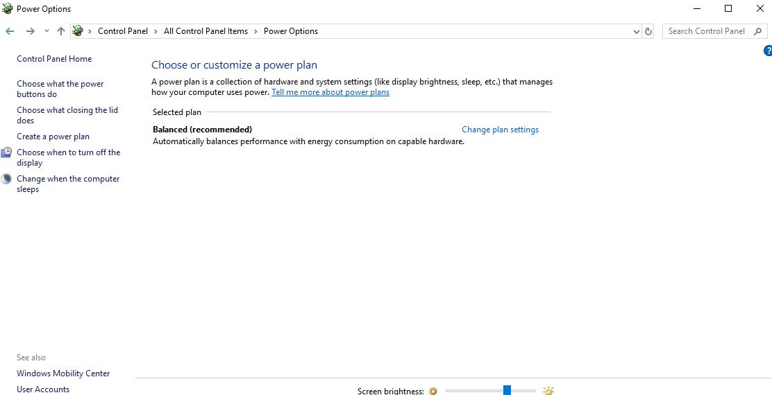 Configuring Power Settings