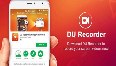 Installing DU Recorder from Google Play Store for Mobiles