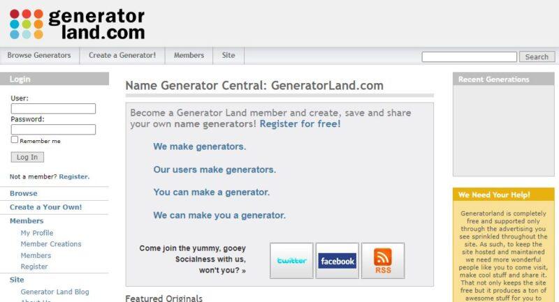 Generator Land - Best Twitch Name Generators Free
