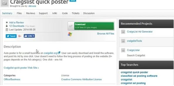 Craigslist Quick Poster - Best Craigslist posting software to use