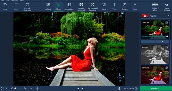 Movavi Photo Editor - Best unblur photos online.